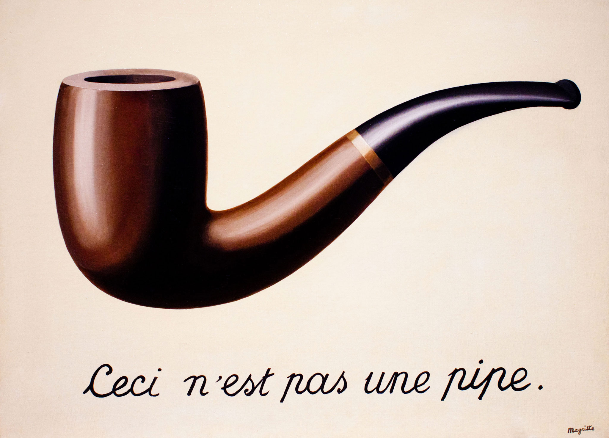 René Magritte The Treachery of Images This is Not a Pipe 1929